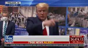 President Trump Mocks Mainstream Press Over Mask Hysteria