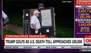 CNN Is Mad Trump Golfed Without A Mask