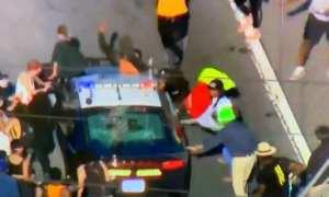 WATCH: BLM Protestors Attack A Police Car On L.A Freeway
