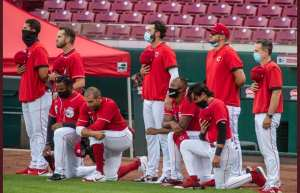 MLB: Cincinnati Reds Players Kneel For Anthem