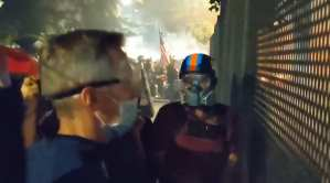 Portland Mayor Watched Rioters Set Fires At Federal Courthouse