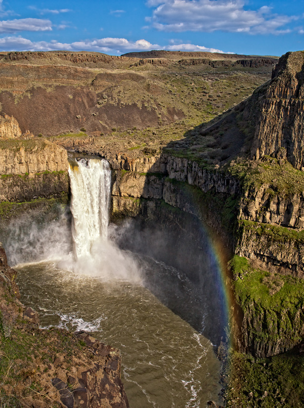 Palouse Falls with Rainbow by Gary Hamburgh - All Rights Reserved