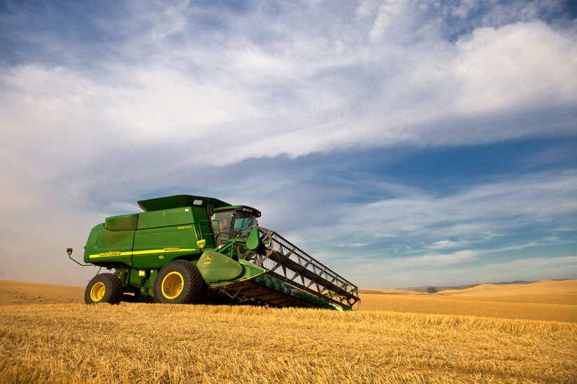 John Deere combine 3 by Gary Hamburgh - All Rights Reserved