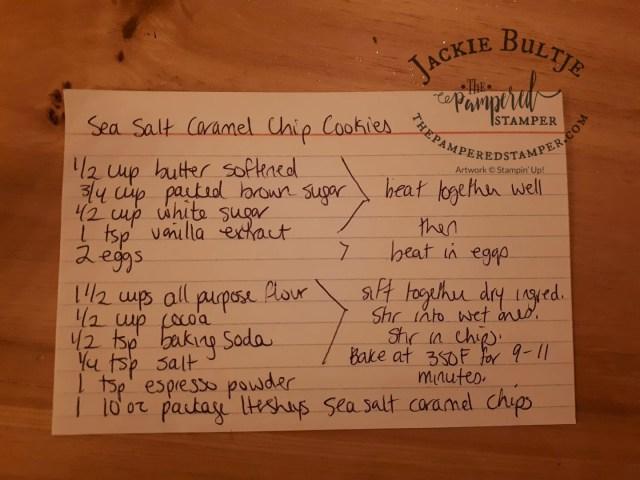 Sea salt caramel chip cookies