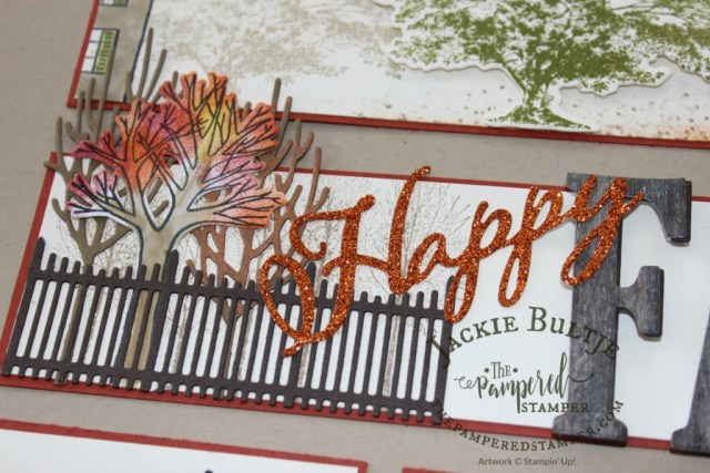 Happy Fall combination of framelits: Large Letters and Farmhouse Christmas