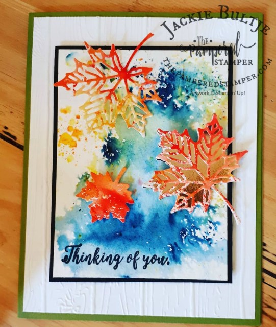More Brusho leaves cut from Colorful Seasons framelits