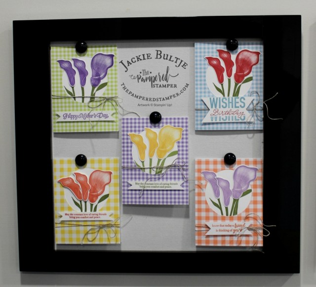 Gingham Gala in five colours coordinate with Lasting Lily for these stunning cards.