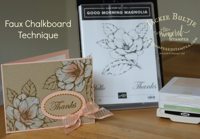 Faux Chalkboard with Good Morning Magnolia available June 4