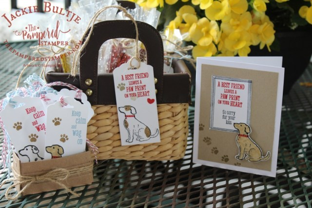 Going to the Dogs tags, treats and card using Happy Tails from Stampin'Up!