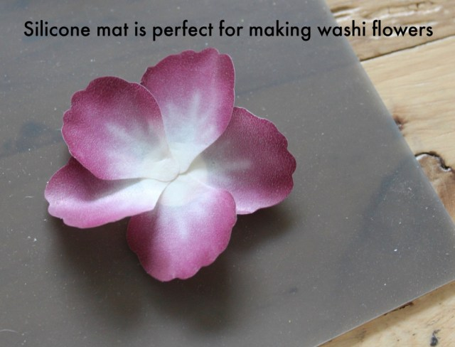 Silicone mat is perfect for making pressed petals washi tape flowers