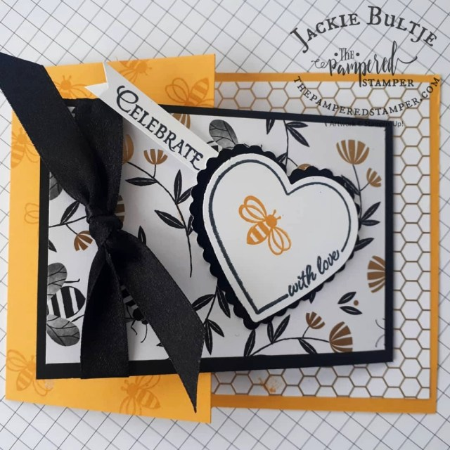 Honey Bee Joy-Fold card