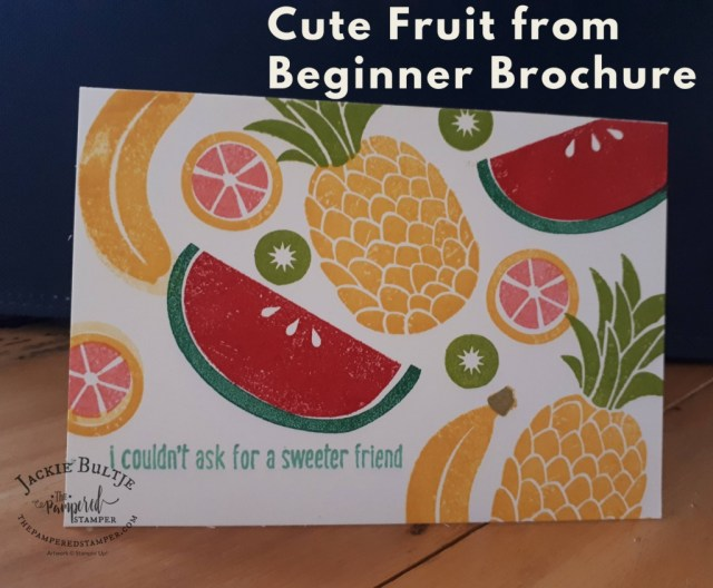 Cute Fruit collage card