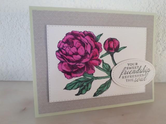 Prized Peony card
