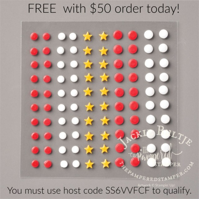 Free embellishments with purchase today