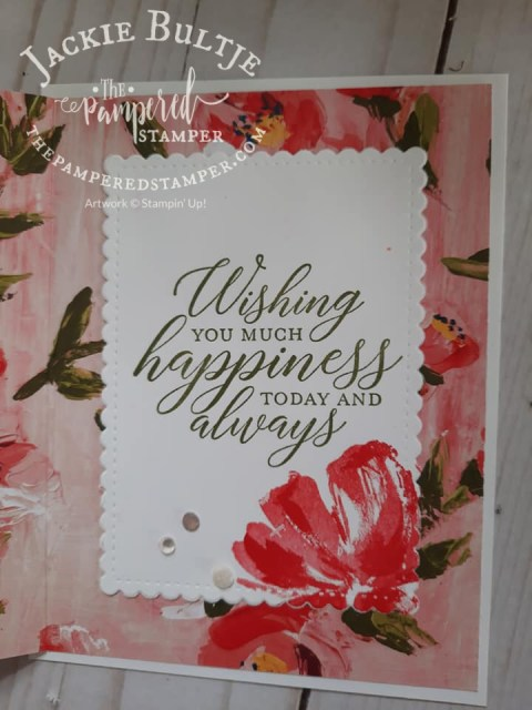 Fine Art Floral accordion fold card
