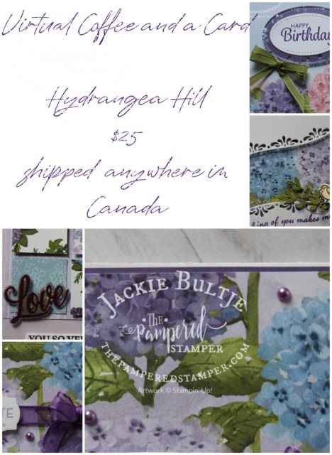 Hydrangea Hill Coffee and a Card