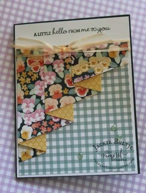 Pansy Patch Drapery Fold Card