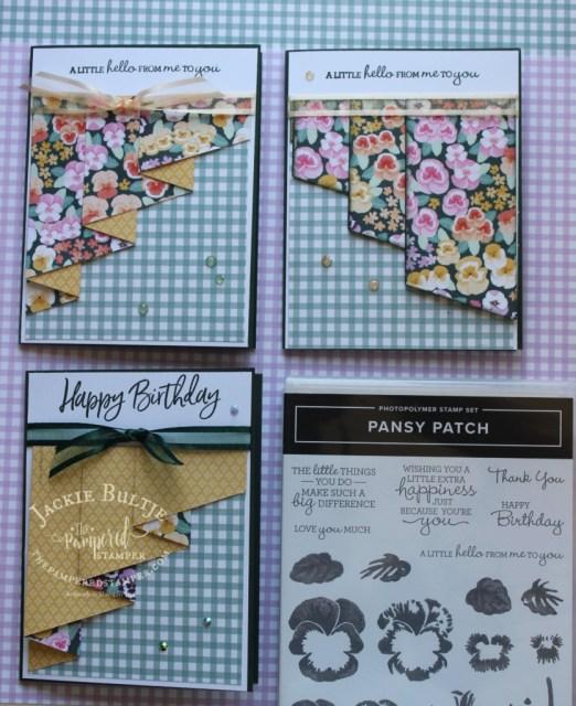 Pansy Petals Drapery Fold Cards