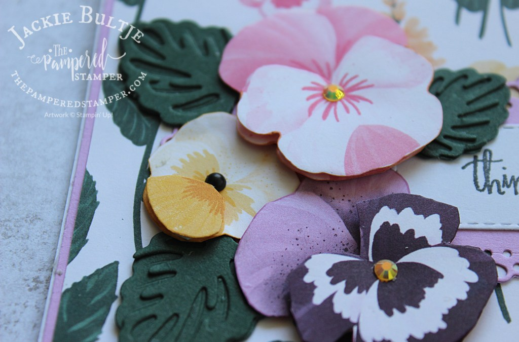 Pretty Pansies Cut From Paper