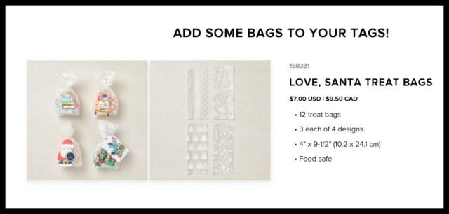 Love, Santa treat bags
