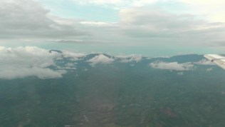 Flying over the beautiful green mountains of Panama towards David