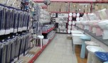 Toilets, sinks, towel bars, and all things bathroom related including a shower bench.