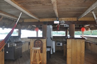 The tiki bar which looks like a heck of a fun place to have a party!