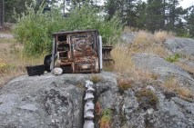 There were many old artifacts left by the miners scattered around the town.