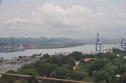 We went over the Bridge of the Americas and the Canal
