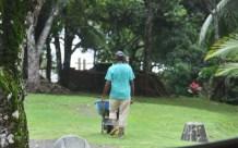 We noticed this workman was always barefoot.