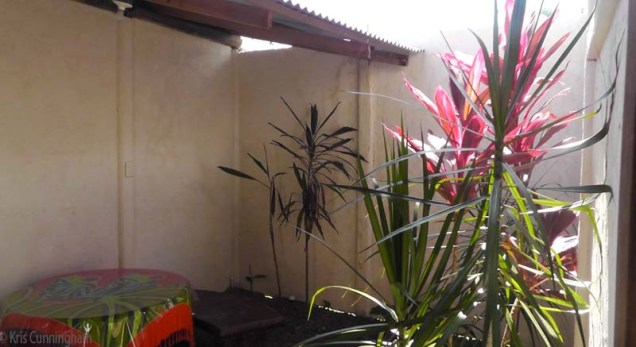 The private sitting area outside our door.