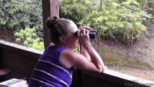 A favorite activity, watching the birds and wildlife.