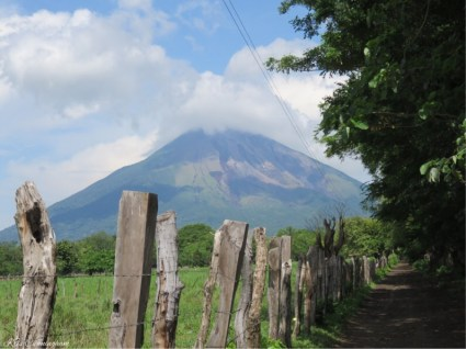The side road along the airport also has beautiful views of the volcano