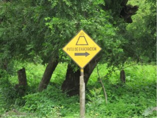 These signs are all over. This is an island. If the volcano blows I doubt there is anywhere safe on the island!