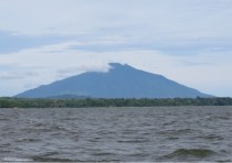 The other volcano is also beautiful with the clouds touching the top.