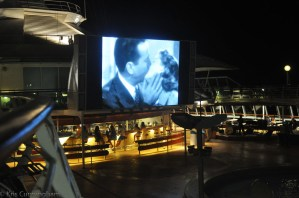 It was really fun watching Casablanca (in Spanish) on the deck of the ship one night.