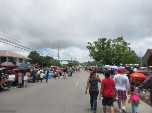 This is the scene as far as I walked - people along the street ready for a parade