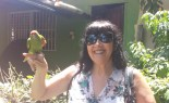 Martine and the parrot