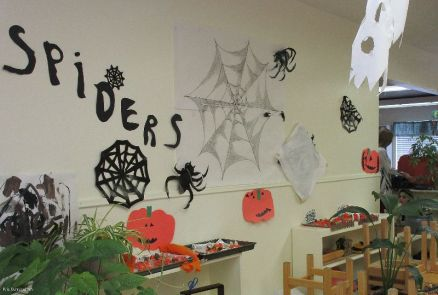 The school was well decorated for the occasion