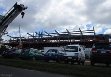There is another supermarket under construction on the Pan-American highway and it looks huge