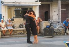 Tango dancing in the park. Joel has a great video I must find