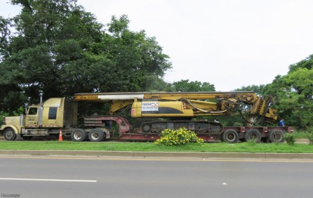 This huge machine was being loaded up just outside the site. I had to take a photo for my grandson.