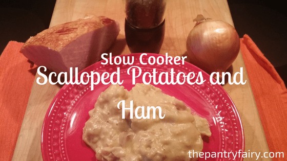 slow cooker scalloped potatoes and ham