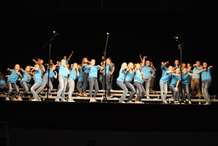 The Treble Makers strike a final pose at a recent concert.