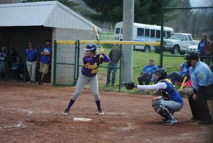 Senior Kaitlyn Ingle gets ready to bat.