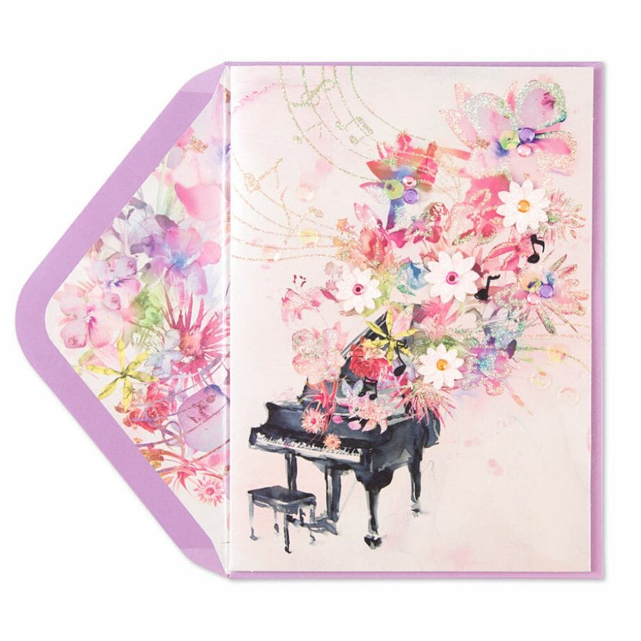 Taylor Swift- Floral Piano Card