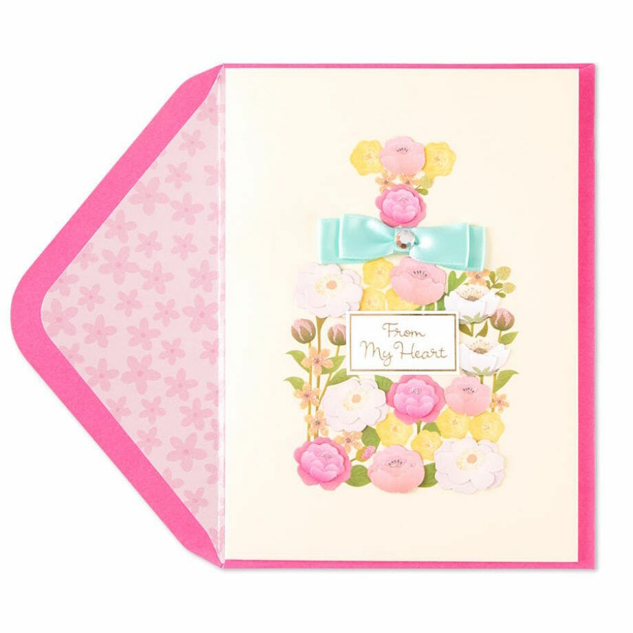 Taylor Swift- Flower Perfume Bottle Card