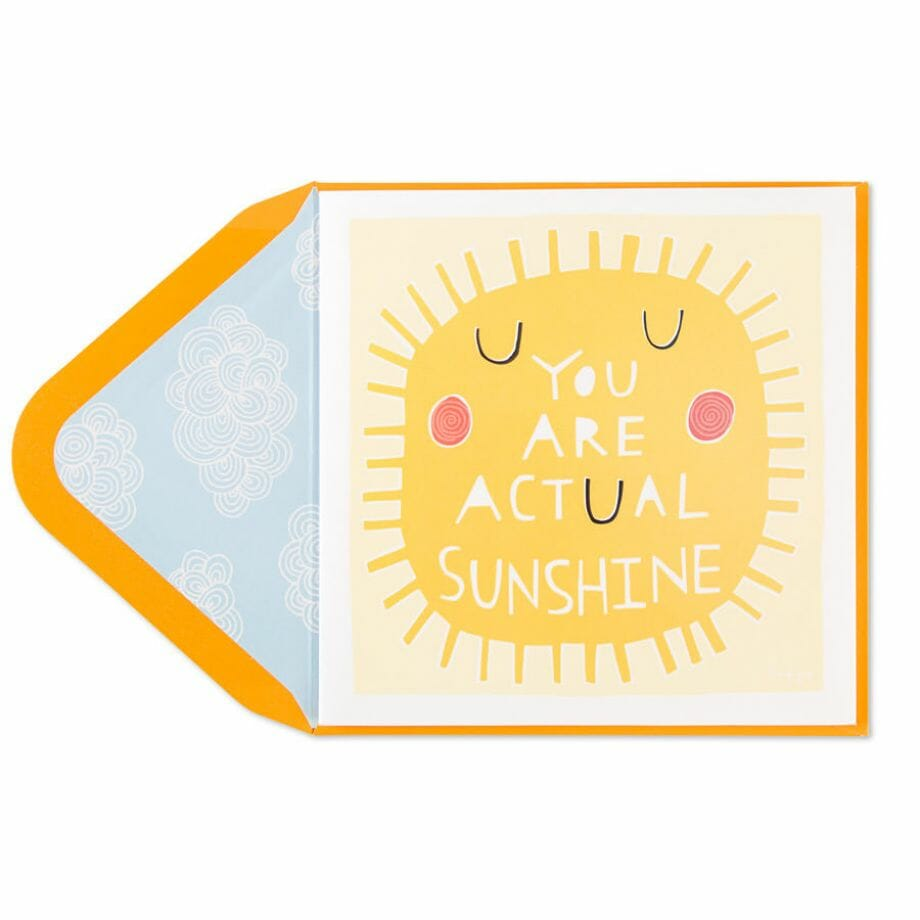 Taylor Swift- You Are Actual Sunshine Card