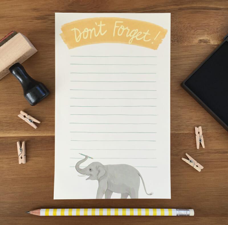YP Elephant Notepad 1
