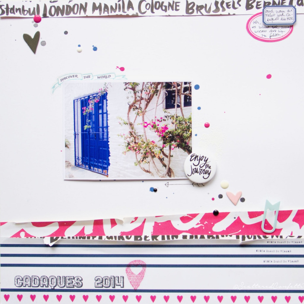 Cadaqués ScatteredConfetti Scrapbooking Layout